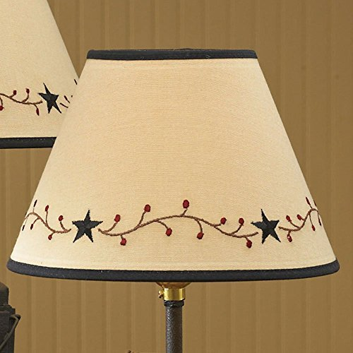 (Park Designs Star Vine Lamp Shade,Cream,14