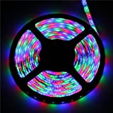 Topled Light® 16.4ft/5M SMD 5050 150 LEDs Non-Waterproof RGB Color Changing LED Strip Light Kit, X'mas Chrismas Light Kit(44 Key IR Remote + Reciever + 12V 3A Power Supply)