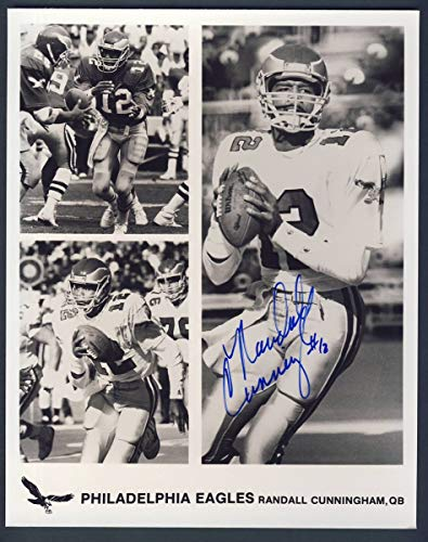 Randall Cunningham Eagles Signed/Autographed 8x10 Photo PASS 127431