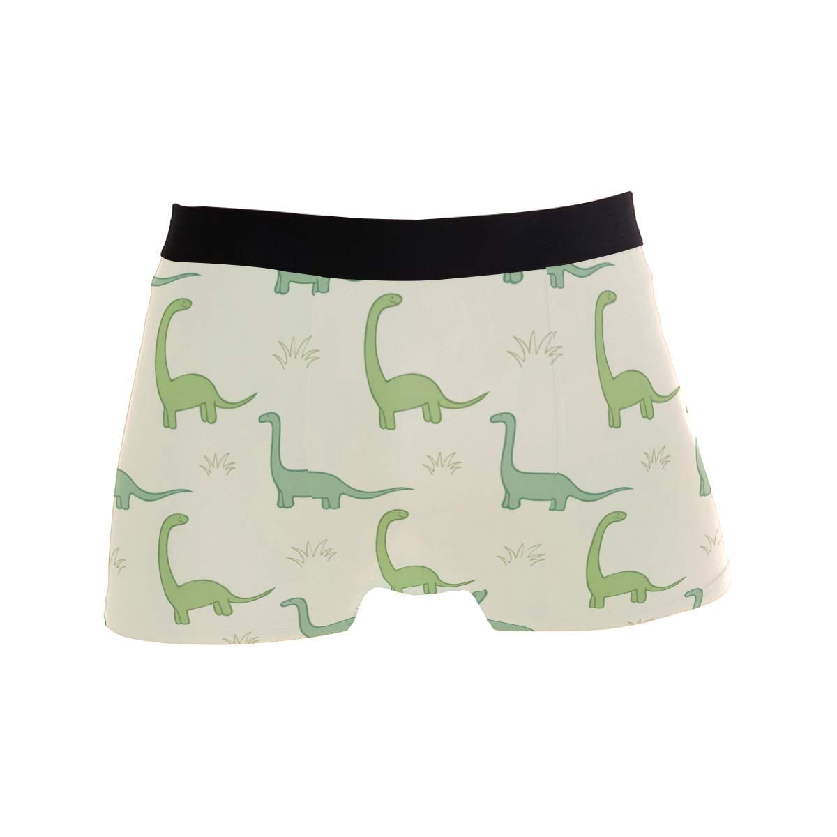 Mkuell Cute Dinosaur Comfortable Mens Boxer Briefs Multi-Size Soft Underwear S