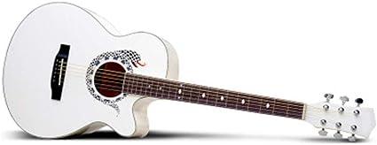 QING.MUSIC Guitar Balada Guitarra 40 Pulgadas patrón Serpiente ...