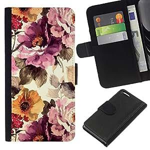 All Phone Most Case / Oferta Especial Cáscara Funda de cuero Monedero Cubierta de proteccion Caso / Wallet Case for Apple Iphone 5C // Vintage Vignette Sunshine