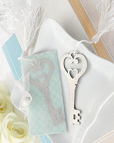 CYNDIE Key Shape Bookmark w Tassels Christening Wedding Party Birthday Favours Gift (Decorator Tassels)