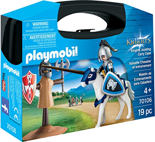 (PLAYMOBIL® 70106 19 Piece Knights Training Carry Case, Multicolor)