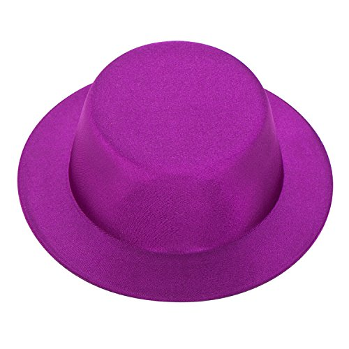 Lawliet Satin Mini Top Hat Millinery Decorate Making Party Fascinator Base A087 (Purple)