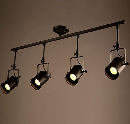 Luz de techo Industrial Fondo de proyector retro Luz de pared Bar ...
