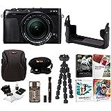 Fujifilm X-E3 Mirrorless Digital Camera w/XF18-55mm f/2.8-4 R LM OIS Lens (Black) w/BLC Leather Case & Editing Software Bundle