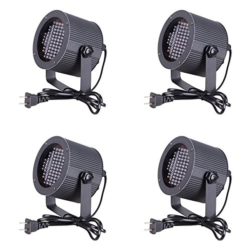 CO-Z 4 PCS 86 RGB LED Stage Lights Par DMX 512 Lighting Laser Projector Party Club DJ Disco Moving Heads