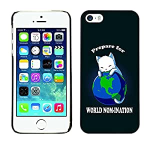 Paccase / SLIM PC / Aliminium Casa Carcasa Funda Case Cover para - Popular World Planet Earth Cat Ruler White King Anime - Apple Iphone 5 / 5S