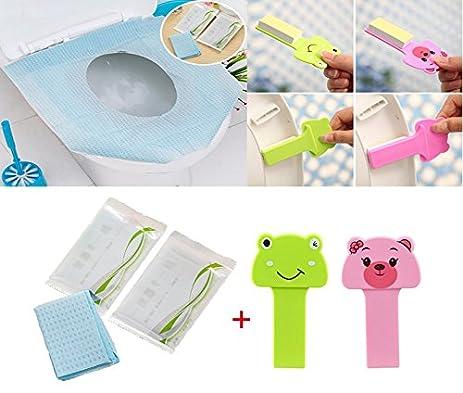 Oruuum 8PCS Cleaner Sets,6pcs Pocket Size Healthful Safe Portable Travel  Disposable Paper Toilet Seat