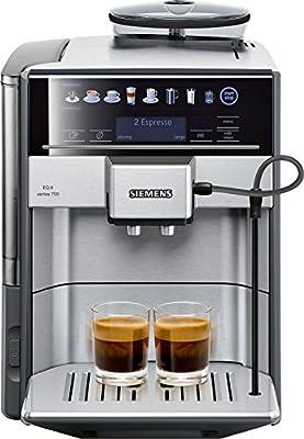 Siemens EQ.6 TE607203RW Super Fully Automatic Espresso Machine, Coffee Capuccino Latte Maker, OneTouch DoubleCup System, SIlver