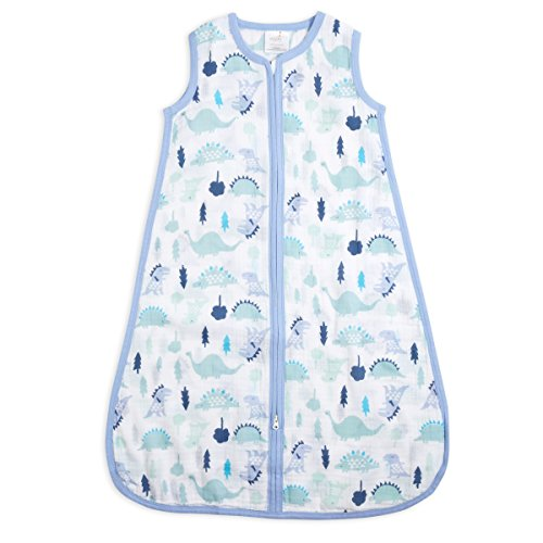 aden + anais Classic Sleeping Bag, 100% Cotton Muslin, Wearable Baby Blanket, Dinos, Extra Large, 18+ Months by aden by aden + anais