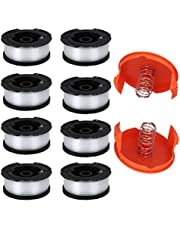 """TOPEMAI AF-100 Spool, AF-100-3ZP Replacement Auto Feed Spool AF100 0.065"""" String Trimmer Line Replacement AF1003ZP for GH900 GH600 ST7700 String Trimmer(8 Pack+2 Spool Cap and Spring)"""