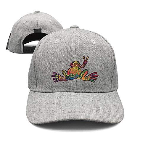 (Baseball Cap American Hippie Psychedelic Art Quotes Peace Frog Snapbacks Truker Hats Unisex Adjustable Fashion Cap)