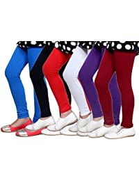 Big Girls' Super Soft Cotton Leggings (Set Of -6)