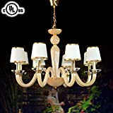 DECORAPORT Glass Built 8-light Pendant Light Modern Chandelier Diameter 30 Inch (HD9330-8)