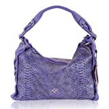 BARBARA MILANO Italian Made Violet Snakeskin Print Leather Designer Purse Handbag Reviews (Free Shipping Available)