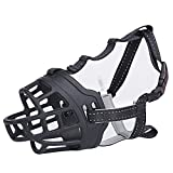 Vcalabashor Silicone Dog Muzzle / Soft FDA & BPA Free Silicone Basket Dog Muzzles for Large / Prevent Biting, Chewing and Barking, Allows Drinking and Panting, Used with Collar / Black Size 5