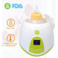 Gland Portable Electric Steam Baby Bottle Warmer and Sterilizer for Breastmilk Food Water with LCD Display and Food Container