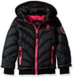 US Polo Association Big Girls' Bubble Jacket (More Styles Available), UA34-Black, 14/16