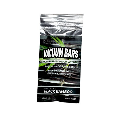 Pacific Breeze Products Vacuum Bars All Purpose Deodorant Bars, Pet Air Freshener, Car Air Fresheners (Black Bamboo) -