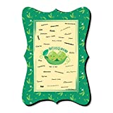 Big Dot of Happiness Double the Fun - Twins Two Peas in a Pod - Unique Alternative Guest Book - Baby Shower or First Birthday Party Signature Mat