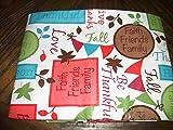 Faith Friends Family Love 52 X 70 Inch Peva Tablecloth