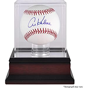 Al Kaline Detroit Tigers Autographed Baseball and Mahogany Baseball Display Case Fanatics Authentic Certified