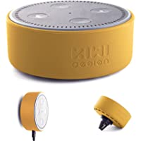 KIWI Design Wall Mount Holder Stand for Dot 2, with Magnetic Holder and Car Mount for Dot & Other Round Voice Assistants, A Space-Saving Solution for Your Smart Home Speakers (Silicon, Yellow)