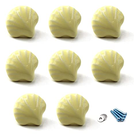 paquete de 2 tornillos incluidos Amarillo Perilla del gabinete Tiradores de cer/ámica Tirador de la manija para los cajones de la c/ómoda para ni/ños