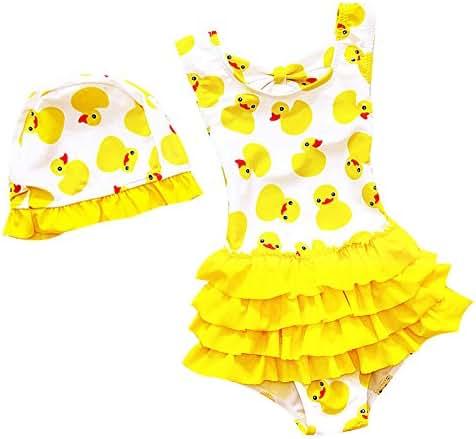 LOSORN ZPY Toddler Baby Girl Swimsuit Kid Girl One Piece Swimwear Cute Swim Dress