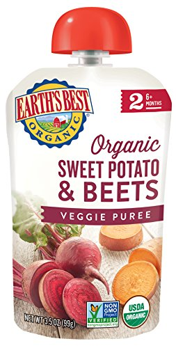 Earth's Best Organic Stage 2, Sweet Potato & Beets, 3.5 Ounce (Pack of 12) (Packaging May (Organic Sweet Potato)