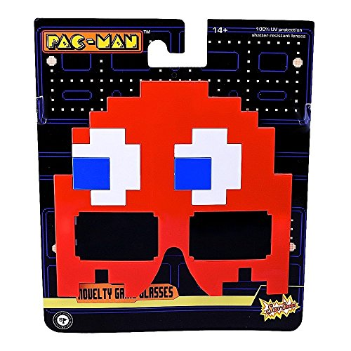 Sunstaches Pacman Red Ghost, Party Favors, -