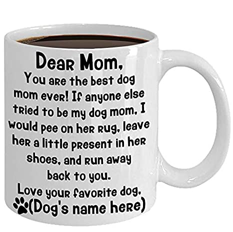 bb8d2b0e39839 Amazon.com: Personalized DOG MOM Mug, Funny Gift For Dog Mom From ...