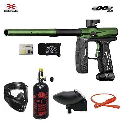 Empire Axe 2.0 1 Star Nitro Paintball Gun Package - Dust Black / Dust Green (Nitro Star Package)