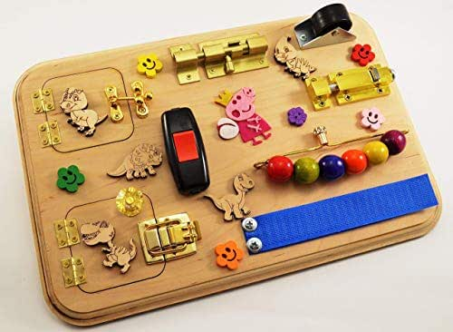Amazon.com: Toy for travel Sensory board Busy board for ...
