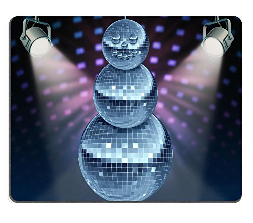 Years Disco Era (Liili Mouse Pad Natural Rubber Mousepad Winter holiday music symbol with Dance night disco balls as a mirror sphere Photo)