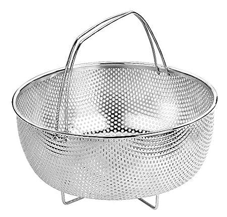 BRA - Cestillo multiusos de acero inoxidable para una cocina al vapor.