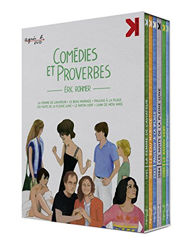 Eric Rohmer's Comedies and Proverbs (Comedies et proverbes) ( The Aviator's Wife / A Good Marriage / Pauline at the Beach / Full Moon in Paris / The Green Ray / My Girlfriend's Boyfriend) [Blu-ray Region B Import - France]