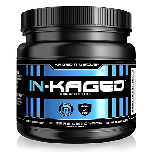 Kaged Muscle In-Kaged Clean Energy and BCAA Intra-Workout Powder with Organic Caffeine, 338 Grams, 20 Servings, Cherry Lemonade