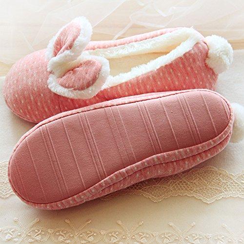 DULEE - Zapatillas de estar por casa de algodón para mujer
