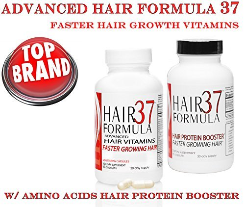 37 Formula Hair Vitamins (Hair Formula 37 Advanced Hair Vitamins with Amino Acids Protein Booster (1 month Supply) by Hair Formula 37)