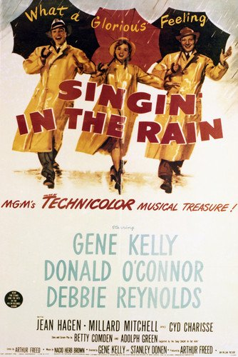 - Debbie Reynolds and Donald O'Connor in Singin' in the Rain classic artwork 24x36 Poster