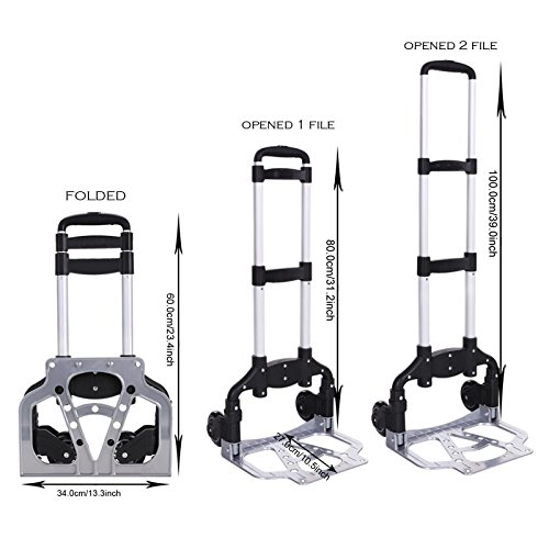 Powered Stair Lift (Portable Folding Hand Truck Dolly Luggage Carts, Multi-function Folding Trolley, Large Capacity, Industrial/Travel/Shopping (M))