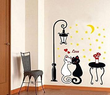 Winhappyhome luces nocturnas preciosos de los gatos negros ...