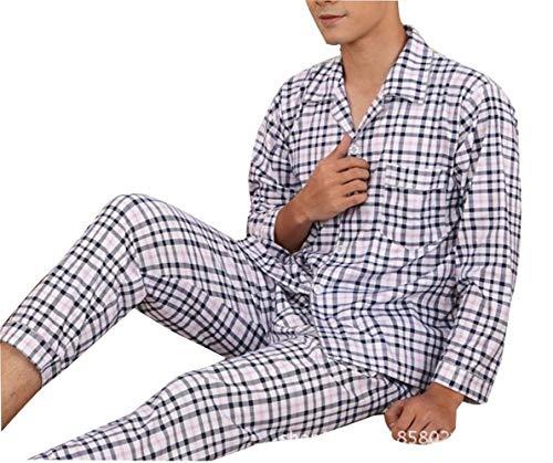 Pigiama Pantaloni Accogliente Da Uomo Maniche Lunghe Top Lungo E Vintage Homewear Colour Due Set Pezzi Chemise A In Del Bagno 6x6Bwrn