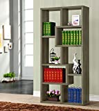 Multiple Cubed Rectangular Bookcase Weathered Grey For Sale
