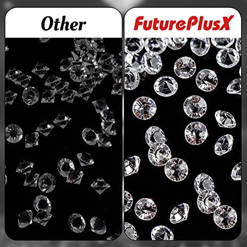 FUTUREPLUSX Acrylic Crystal Diamond, 2000PCS 8mm Wedding Table Confetti Diamond Vase Beads for Table Centerpiece Vase Fillers Bridal Shower Decorations