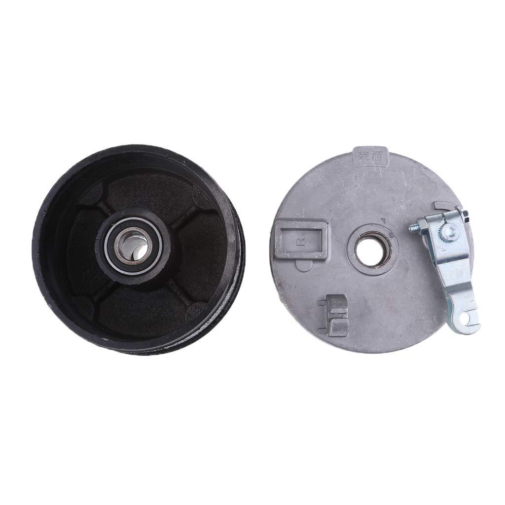 Schwarz 110mm Links Silber perfk 1 Set Trommelbremsgeh/äuse Radnabe Innendurchmesser 17 mm 0.67 inch f/ür 110cc 125cc ATV Quad