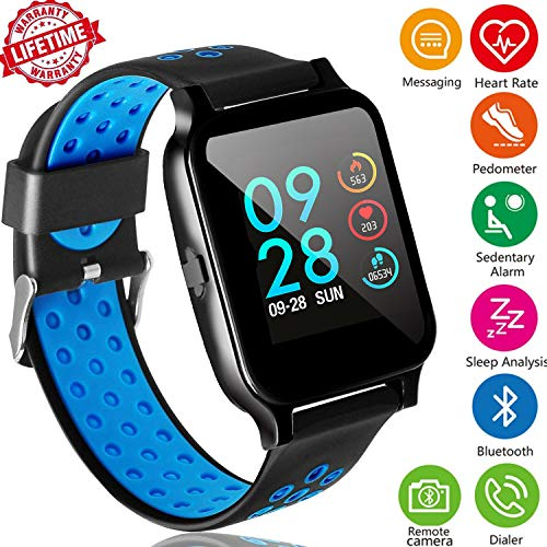 Silicone 3g Touch (Fitness Tracker Watch with Heart Rate Monitor,Sports Activity Tracker Watch with Sleep Monitor Blood Pressure Calorie Counter Pedometer Watch for Kids Women and Men Call/SMS Remind for Christmas Gift)